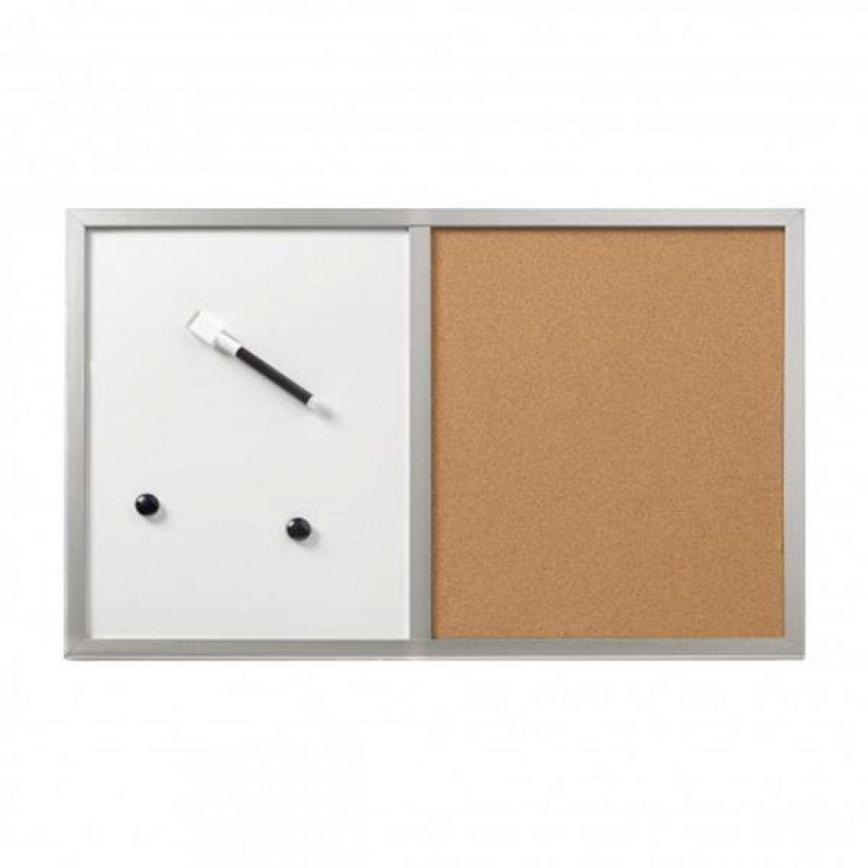 pinnwand magenttafel kombiboard korktafel whiteboard 40 x 60 cm top ebay. Black Bedroom Furniture Sets. Home Design Ideas