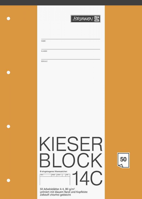 Kieserblock A4 Arbeitsblätter unliniert 14C 50 Blatt | eBay