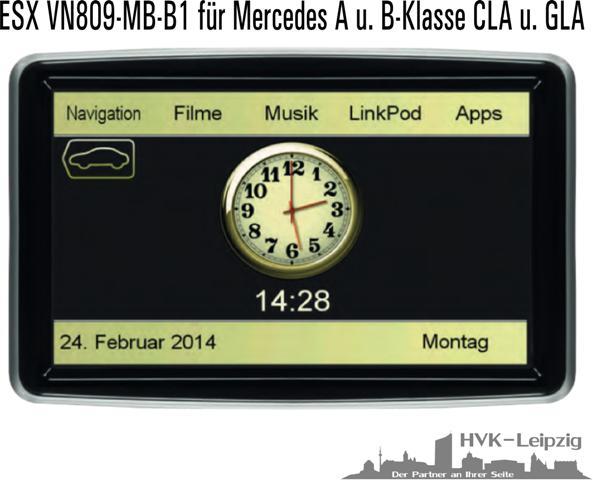 navigation mercedes benz a b klasse cla gla display. Black Bedroom Furniture Sets. Home Design Ideas