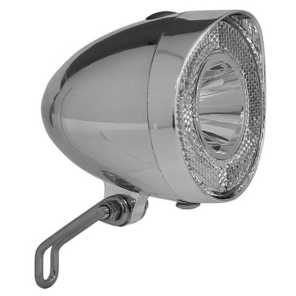 fri nostalgie retro chrom led fahrradlampe frontlicht 20. Black Bedroom Furniture Sets. Home Design Ideas
