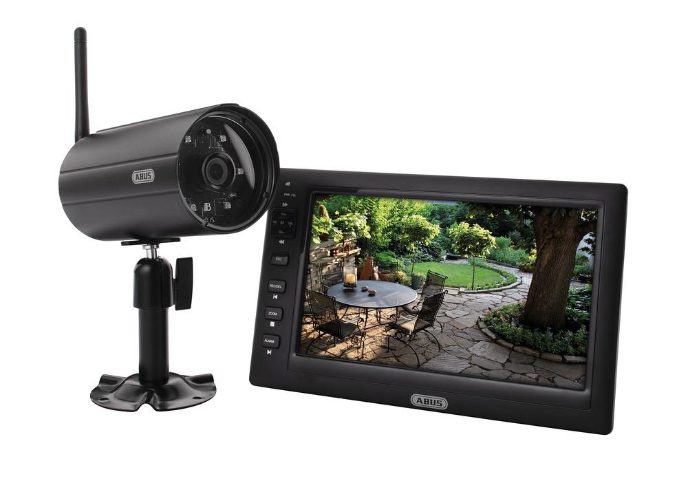 abus tvac14000a heim video berwachungsset 7 tft monitor mit kamera ebay. Black Bedroom Furniture Sets. Home Design Ideas