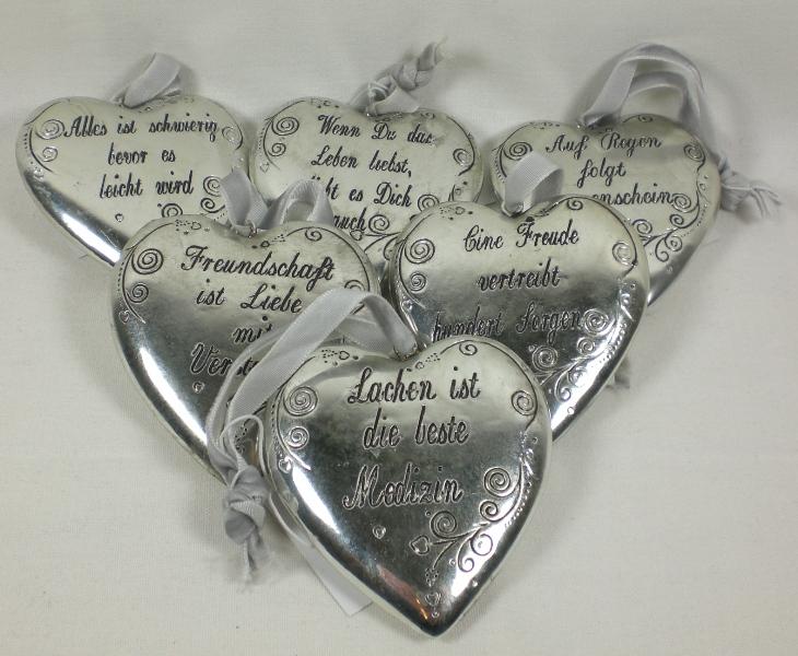 herz mit spruch 6 x 6 cm antik geschenk sprüche | ebay
