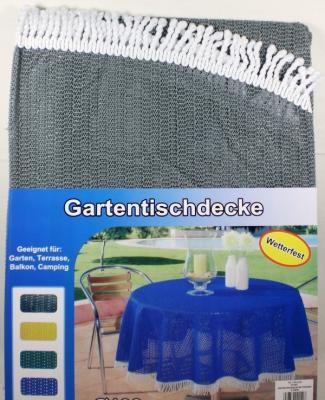 gartentischdecke tischdecke rund 160 cm wetterfest grau ebay. Black Bedroom Furniture Sets. Home Design Ideas