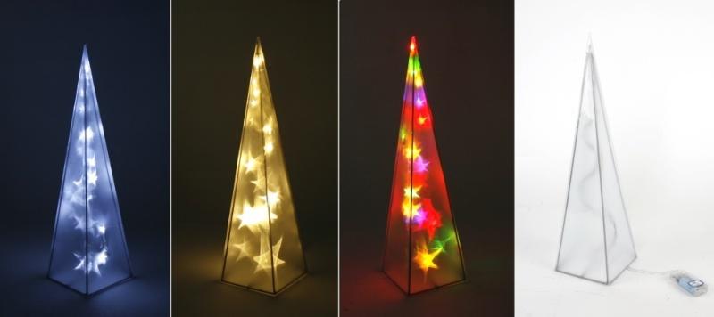led pyramide sterne 45 cm blau weihnachtsdeko lichterpyramide ebay. Black Bedroom Furniture Sets. Home Design Ideas