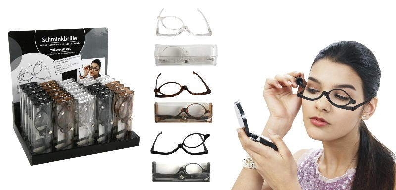 damen schminkbrille lesebrille schwarz praktische schminkhilfe make up brille. Black Bedroom Furniture Sets. Home Design Ideas