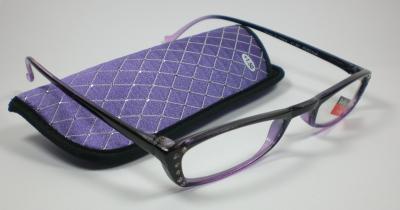 Moderne-Damen-Lesebrille-Lesehilfe-mit-Strass-Applikationen-lila-Sehhilfe-Design