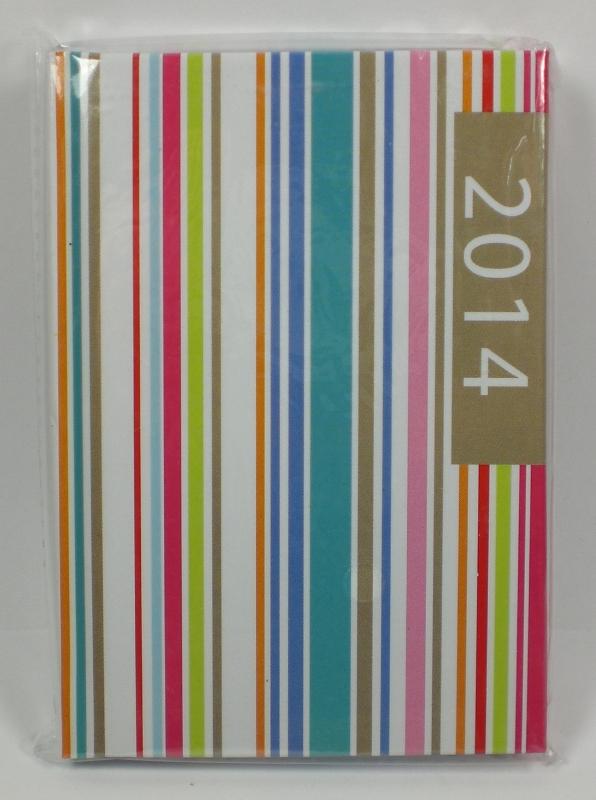 taschenkalender 2014 terminplaner punkte streifen 6. Black Bedroom Furniture Sets. Home Design Ideas
