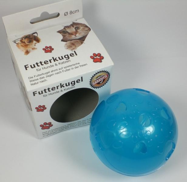futterkugel spielball f r hunde und katzen futterball 8 cm durchmesser kunststof ebay. Black Bedroom Furniture Sets. Home Design Ideas