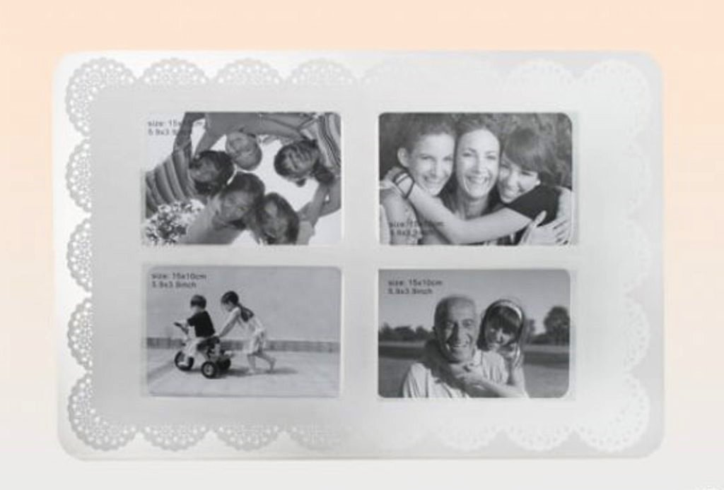 tischset f r 4 fotos abwaschbar 45 x 30cm platzset platzdeckchen wei ebay. Black Bedroom Furniture Sets. Home Design Ideas