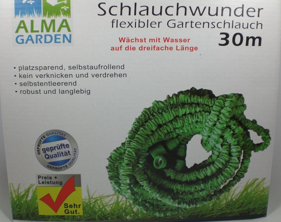 gartenschlauch flexibler wunderschlauch 30 meter schlauchwunder wasserschlauch ebay. Black Bedroom Furniture Sets. Home Design Ideas