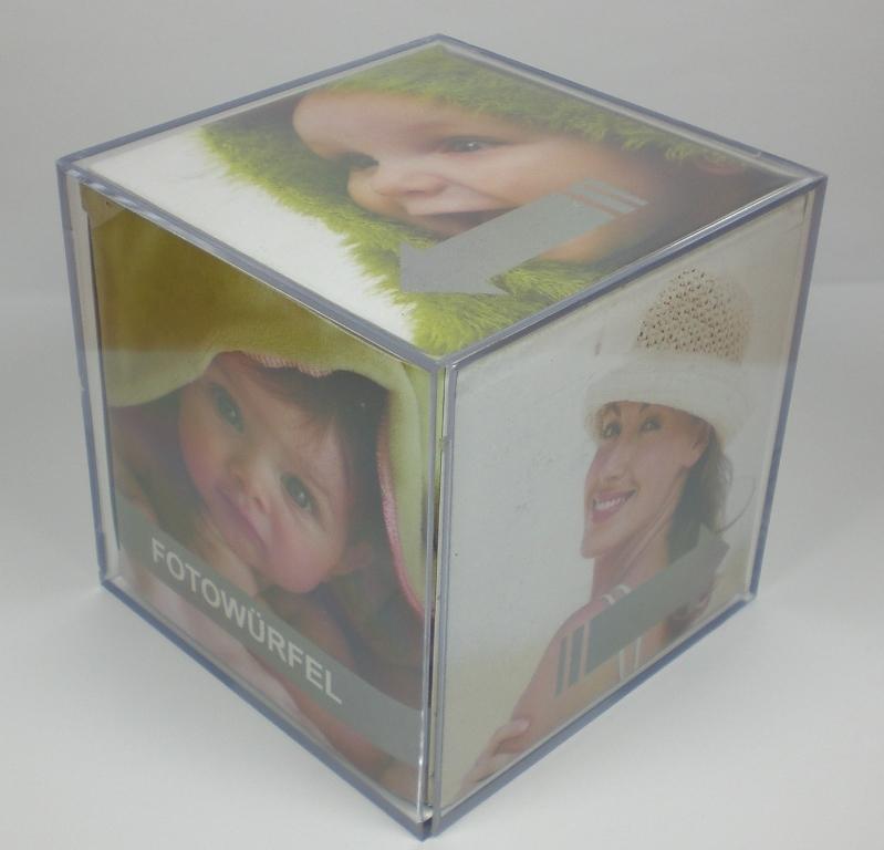 3er set fotow rfel bilderrahmen 9 x 9 x 9 cm f r 6 fotos acryl bilderw rfel ebay. Black Bedroom Furniture Sets. Home Design Ideas