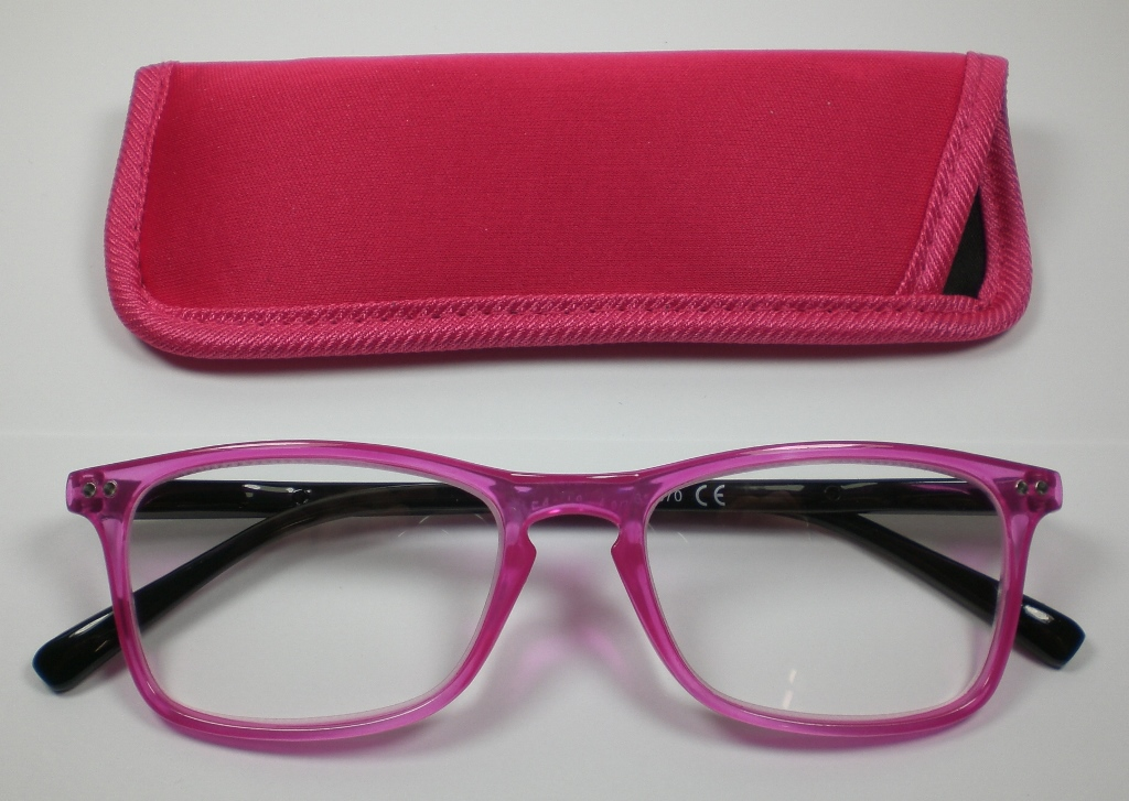 lesebrille 1 5 diop lesehilfe pink damen herren flexb gel mit etui ebay. Black Bedroom Furniture Sets. Home Design Ideas