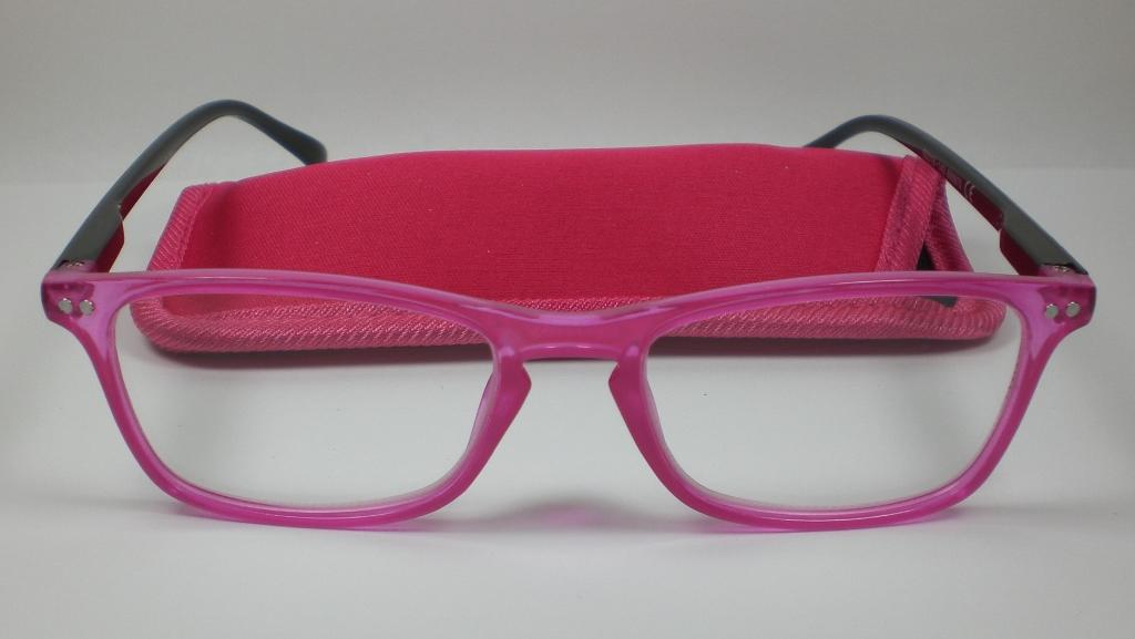 lesebrille 1 5 diop lesehilfe pink damen herren flexb gel mit etui. Black Bedroom Furniture Sets. Home Design Ideas
