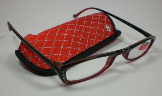 Moderne Damen Lesebrille Lesehilfe mit Strass Applikationen rot Sehhilfe Design