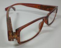 LED Lesebrille Lesehilfe Nachtbrille Brille mit Licht braun unisex incl. Batteri