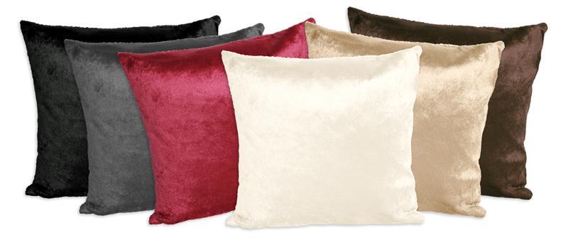 kissenh lle samt pl sch kissenbezug zierkissen deko kissen 40x40 50x50 o 60x60 ebay. Black Bedroom Furniture Sets. Home Design Ideas