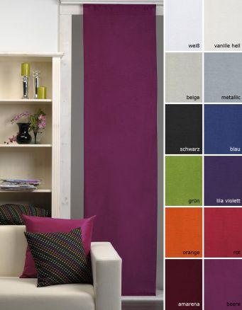 fl chenvorhang schiebegardine franziska lichtdurchl ssig 60x245 moderne farben ebay. Black Bedroom Furniture Sets. Home Design Ideas