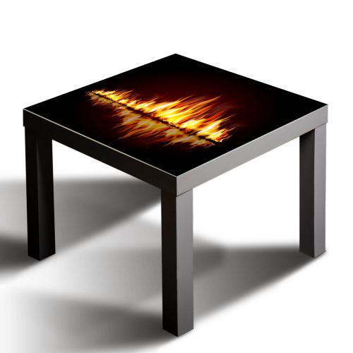 gsmarkt glasbild glasplatte f r ikea lack tisch 55x55 feuer element rot ebay. Black Bedroom Furniture Sets. Home Design Ideas