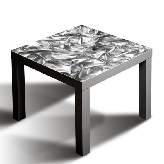 Tischplatte ikea glas  Gsmarkt Glasbild Glasplatte für IKEA Lack Tisch 55x55 Stoff Textur ...