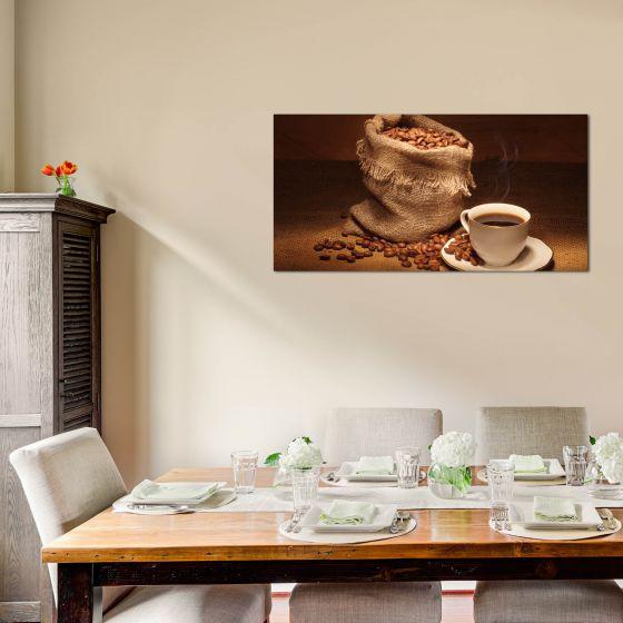 kaffee echtglas glasbilder glasbild echtglas wandbild deko. Black Bedroom Furniture Sets. Home Design Ideas