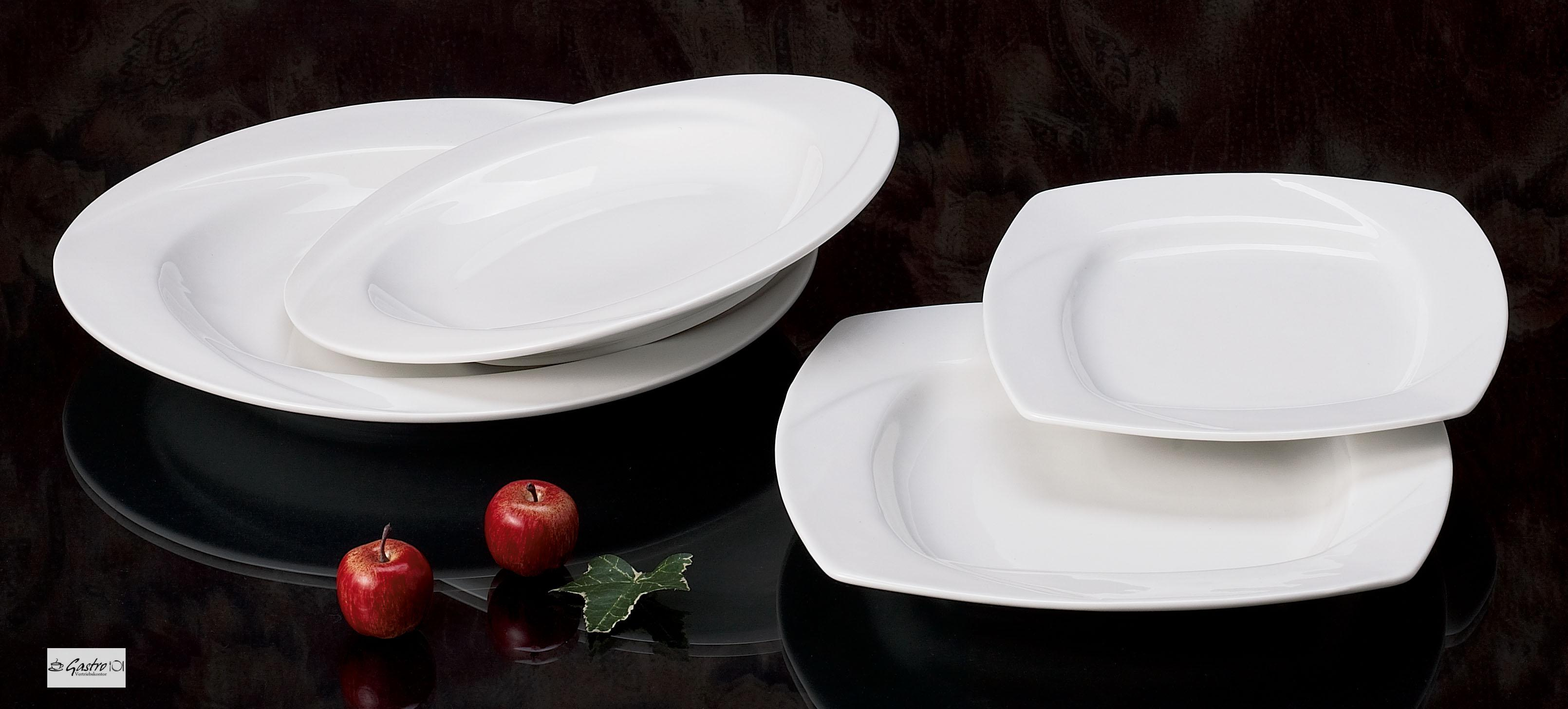 12 design porzellan speise pasta teller tief 30cm eckig ebay. Black Bedroom Furniture Sets. Home Design Ideas