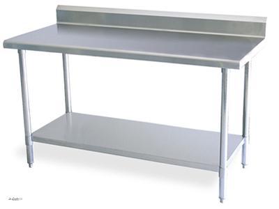 neu edelstahl gastro arbeitstisch tisch edelstahltisch aufkantung packtisch bord ebay. Black Bedroom Furniture Sets. Home Design Ideas