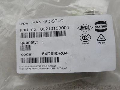 Harting Han 15D STI C Stifteinsatz