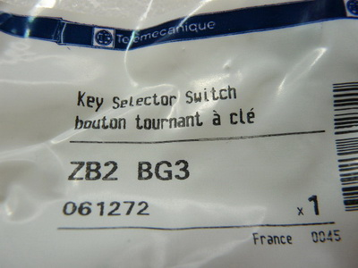 Telemecanique ZB2 BG3 Schlüsselwahlschalter