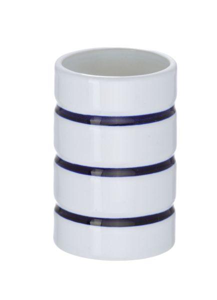 wenko bad accessoire set marine wei 3 teilig keramik ebay. Black Bedroom Furniture Sets. Home Design Ideas