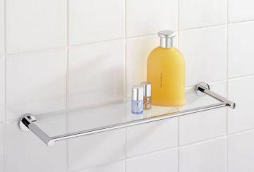 wenko power loc glas wandablage elegance befestigen ohne. Black Bedroom Furniture Sets. Home Design Ideas