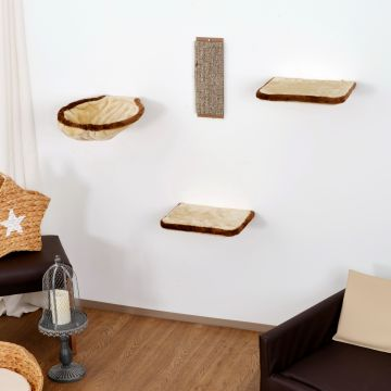 Silvio design kletterwand kratzwand f r katzen 4 teilig - Kletterwand katze ...