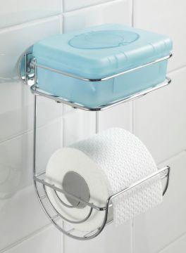 wenko turbo loc wc rollenhalter mit ablage befestigen ohne bohren. Black Bedroom Furniture Sets. Home Design Ideas