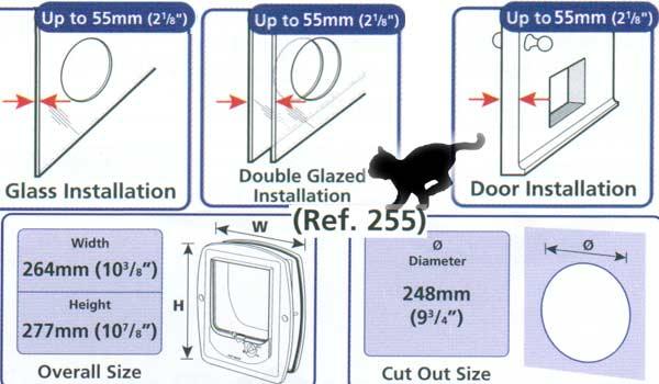 katzenklappen für glastüren