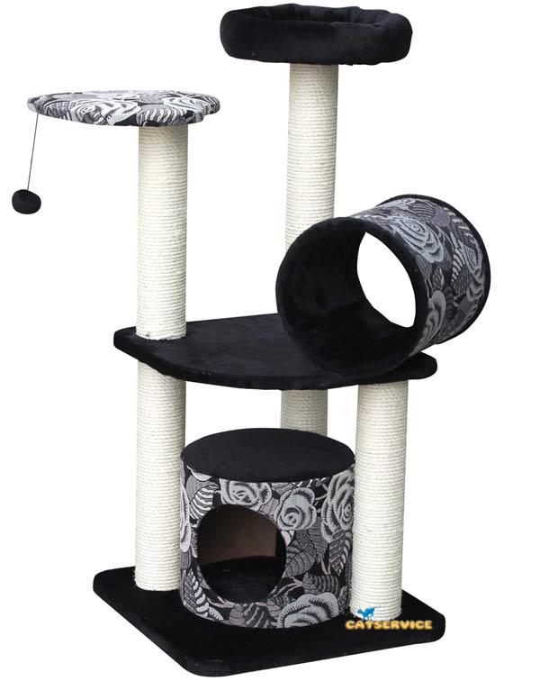 kratzbaum trend michelle europet bernina grau schwarz. Black Bedroom Furniture Sets. Home Design Ideas