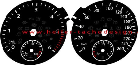 tachoscheibe vw jetta 2010 1km mph zu kmh tacho zifferblatt us meilen km h ebay. Black Bedroom Furniture Sets. Home Design Ideas