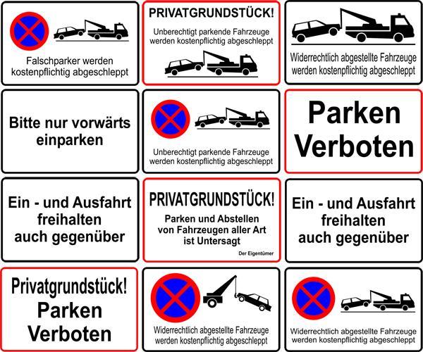 parken verboten schild parkverbot privatparkplatz. Black Bedroom Furniture Sets. Home Design Ideas
