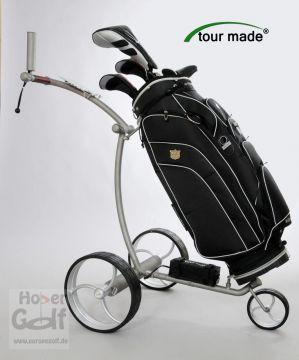 tour made rt 710li edelstahl matt geb rstet golf trolley. Black Bedroom Furniture Sets. Home Design Ideas