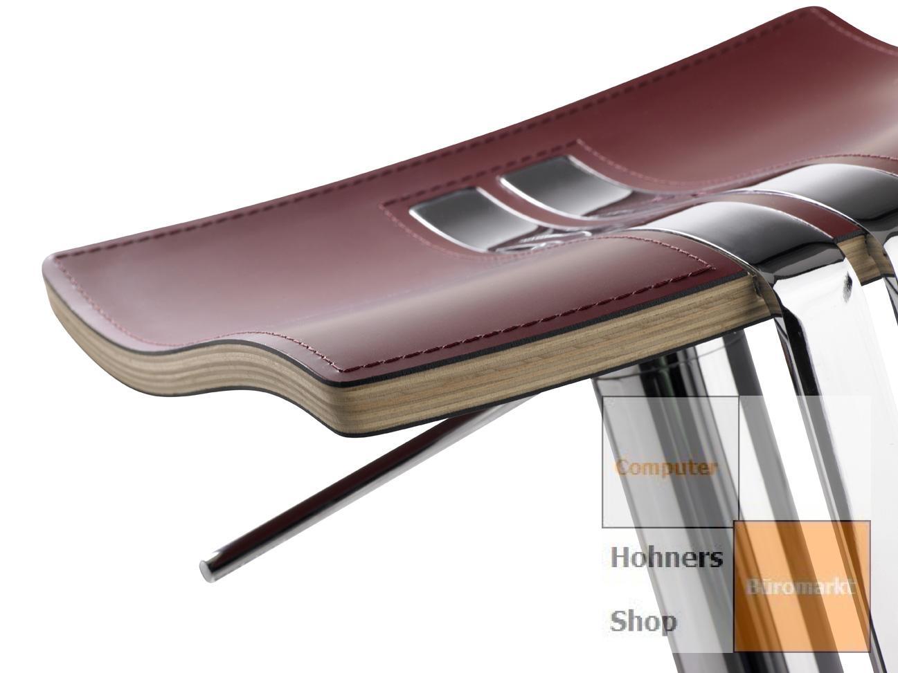 mayer wave barhocker tresenhocker edelstahl echt leder rot. Black Bedroom Furniture Sets. Home Design Ideas