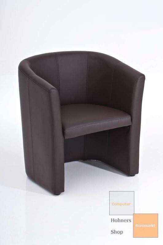 lounge sessel bonita cocktailsessel leder optik braun ebay. Black Bedroom Furniture Sets. Home Design Ideas