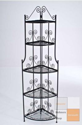 standregal strelizie schwarz eckregal eisenregal. Black Bedroom Furniture Sets. Home Design Ideas