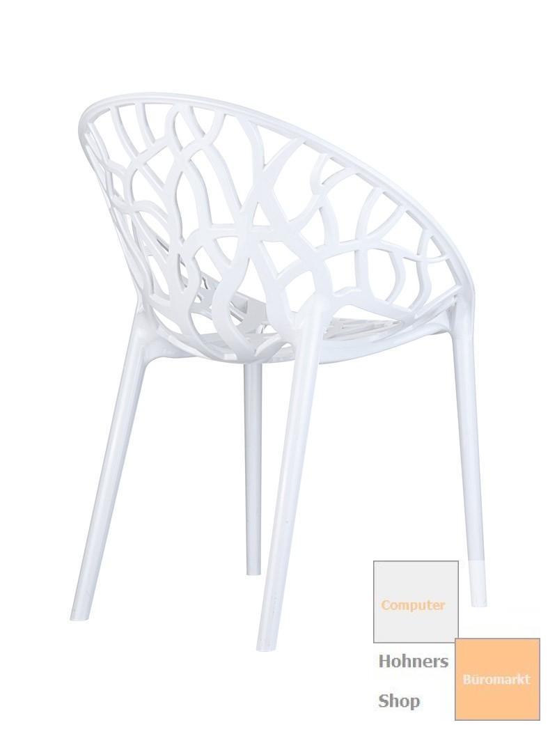 Design stuhl stapelstuhl carissma weiss for Design stapelstuhl