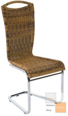 edler esszimmerstuhl freischwinger hochlehner r198 chrom. Black Bedroom Furniture Sets. Home Design Ideas