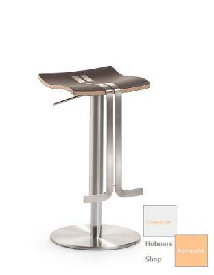 mayer wave barhocker tresenhocker edelstahl echt leder mocca ebay. Black Bedroom Furniture Sets. Home Design Ideas
