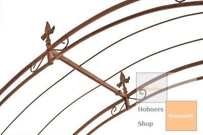 wand rosenbogen cardo aus eisen antik braun rankhilfe spalier kletterhilfe neu ebay. Black Bedroom Furniture Sets. Home Design Ideas