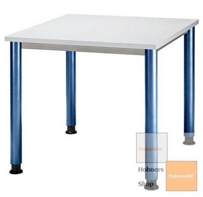 b ro schreibtisch 80x80 cm modell hs08b gestell blau. Black Bedroom Furniture Sets. Home Design Ideas