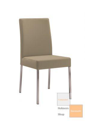 Design stuhl esszimmerstuhl bruck 1 edelstahl kunstleder for Designer esszimmerstuhl