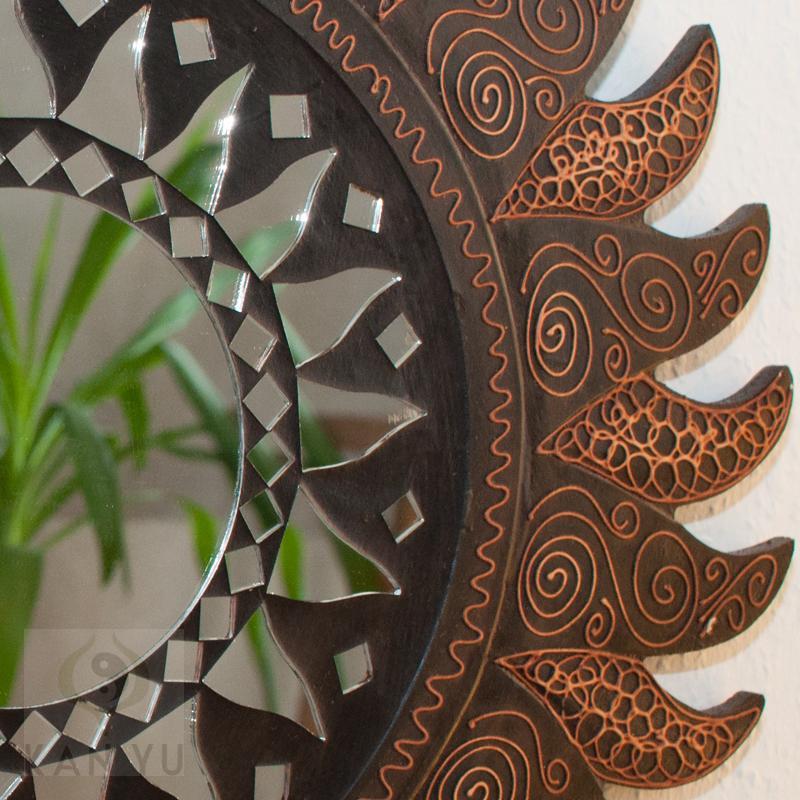 spiegel sonne ca 40 cm feng shui energie wandspiegel ebay. Black Bedroom Furniture Sets. Home Design Ideas
