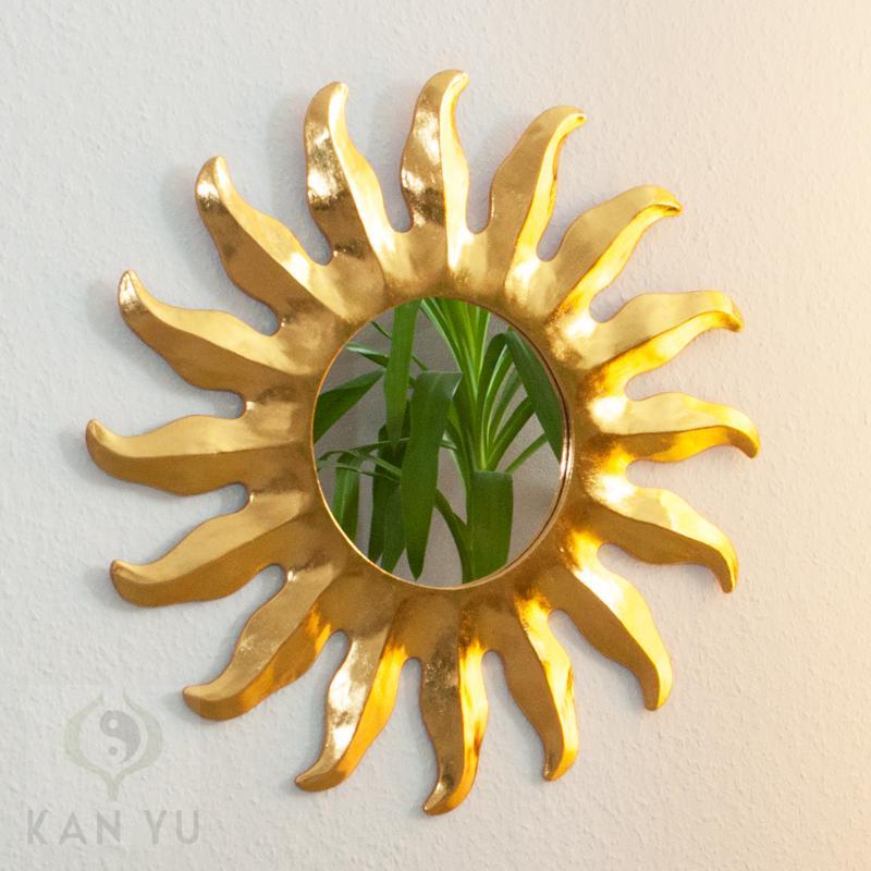 spiegel sonne gold ca 40 cm feng shui tipp. Black Bedroom Furniture Sets. Home Design Ideas