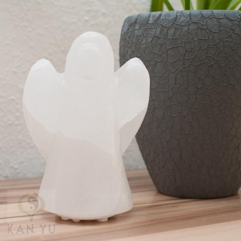 salz kristall lampe engel inkl led elektrik tischleuchte salzlampe ebay. Black Bedroom Furniture Sets. Home Design Ideas