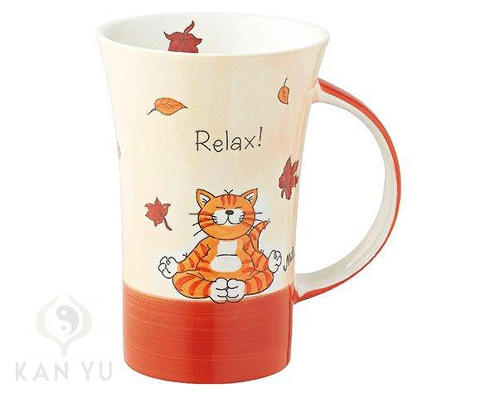 jumbo kaffeetasse teetasse mila design oommh relax 500 ml yoga katze ebay. Black Bedroom Furniture Sets. Home Design Ideas